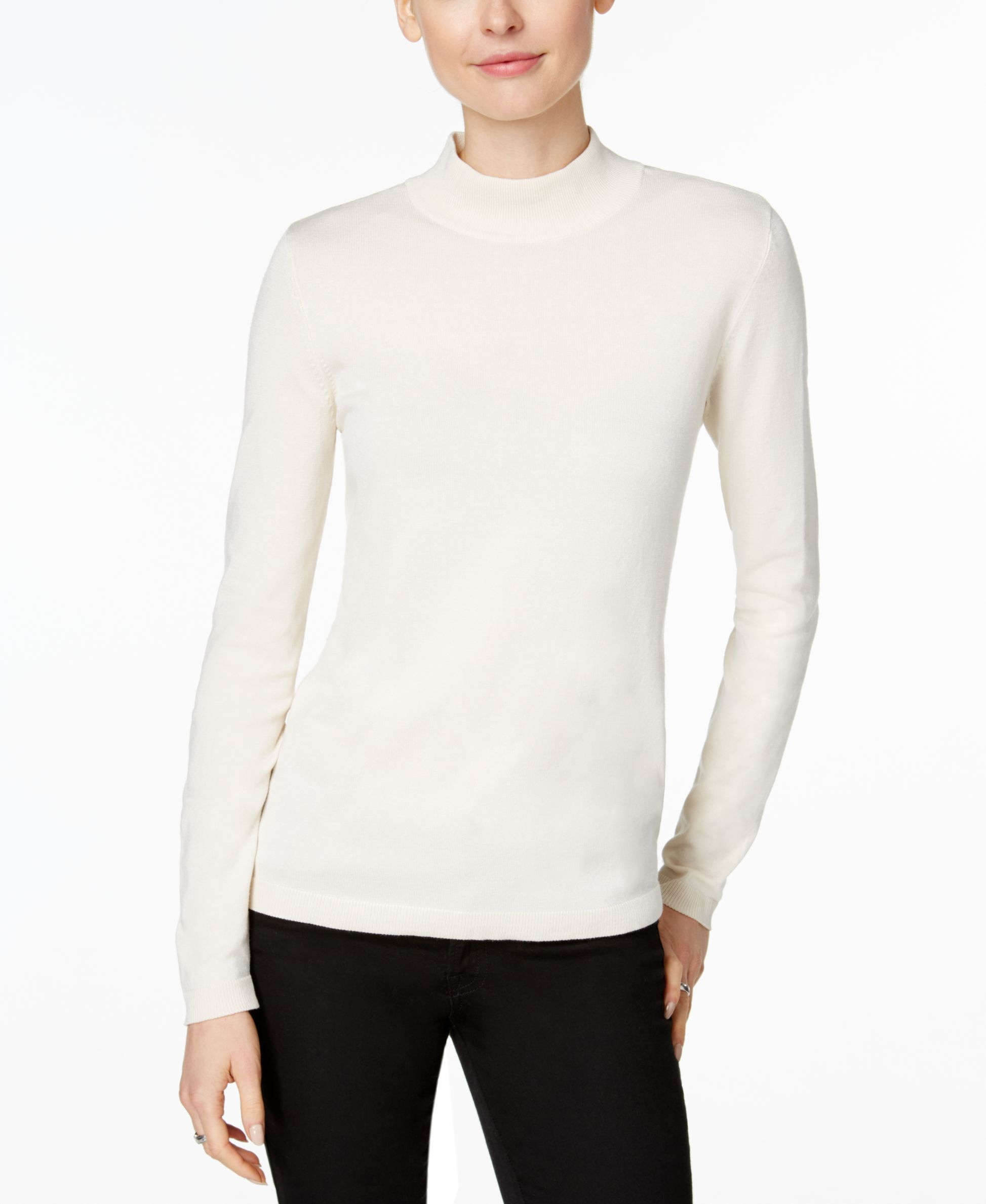 Charter Club Mock-Turtleneck Sweater, Only at Macy's | Products ...