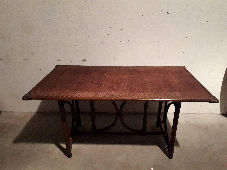 Table Basse En Bambou Annees 70 De La Boutique Arnaudveylon Sur Etsy Coffee Table Dining Table Table
