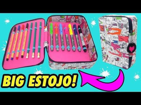 eb1d96196 ESTOJO tipo KIPLING - Material Escolar - DIY - YouTube   DIY ...