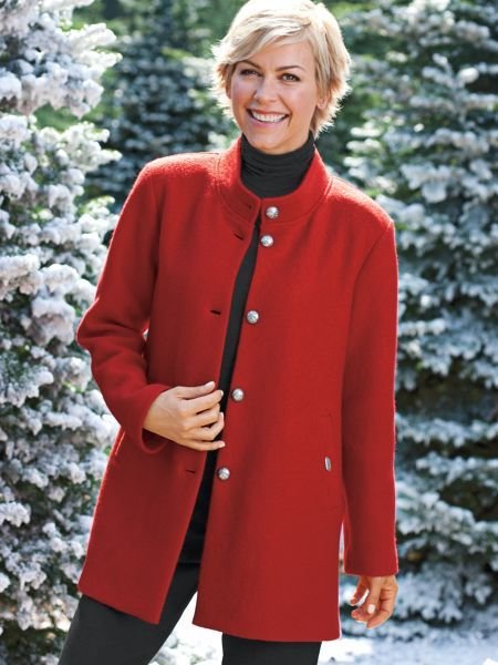 Women s Geiger Car Coat is a classic boiled wool jacket that never goes out  of style. From Austria s legendary coat maker. 634f2a49f60a