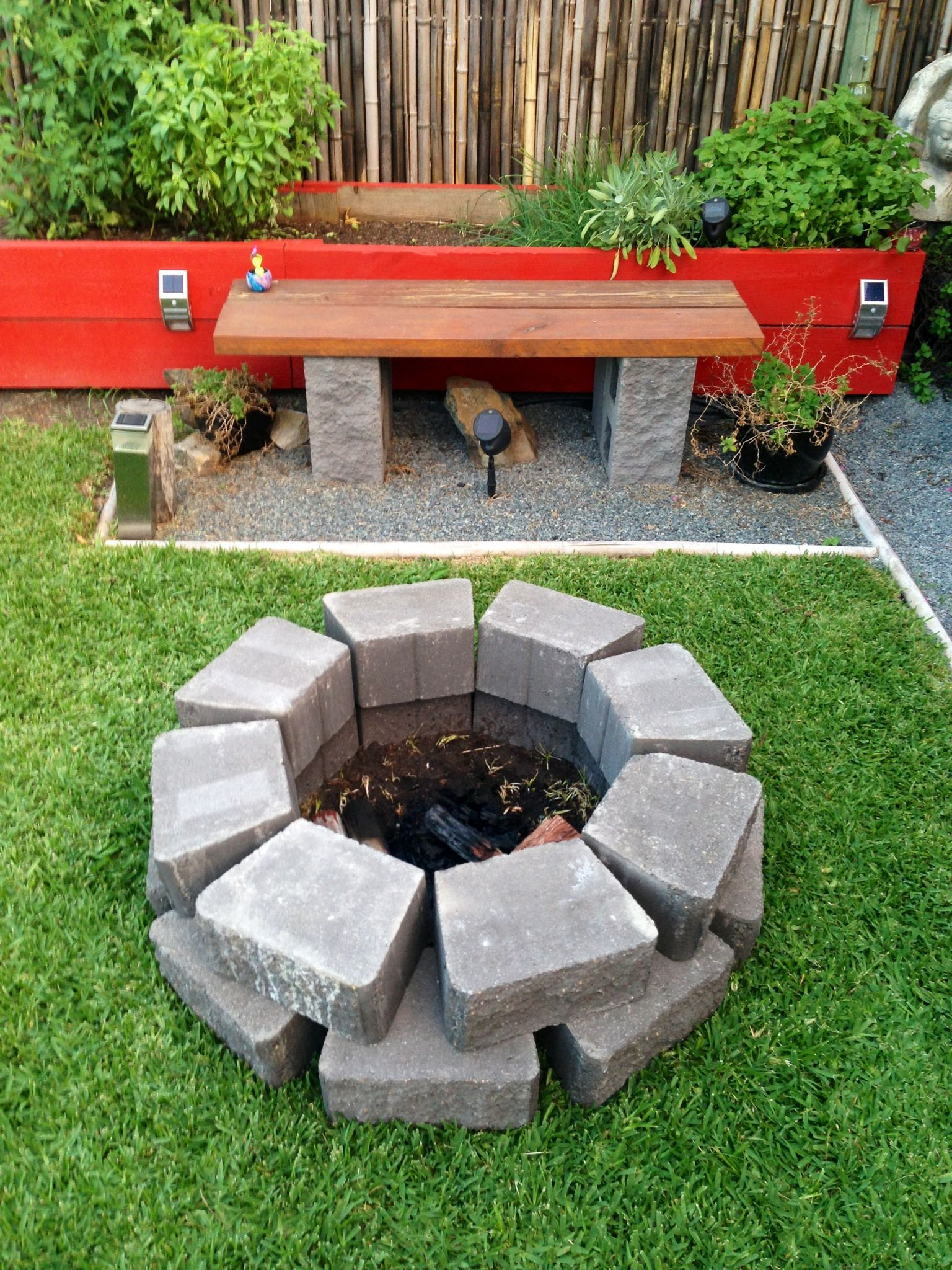 backyard fire pit cost 40 and took 20 minutes to make made from