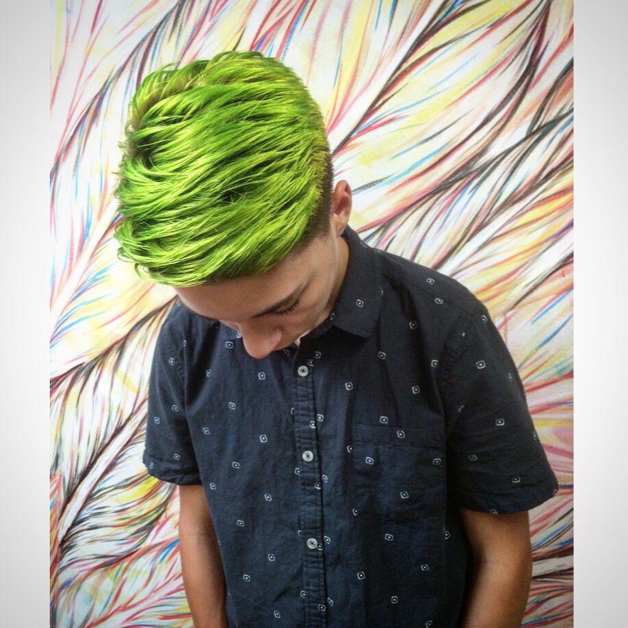 Pravana neon green, Men's color by Austin Garcia. At Self