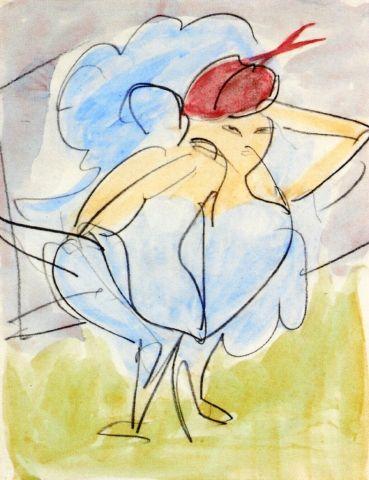 Dancer - Ernst Ludwig Kirchner 1911