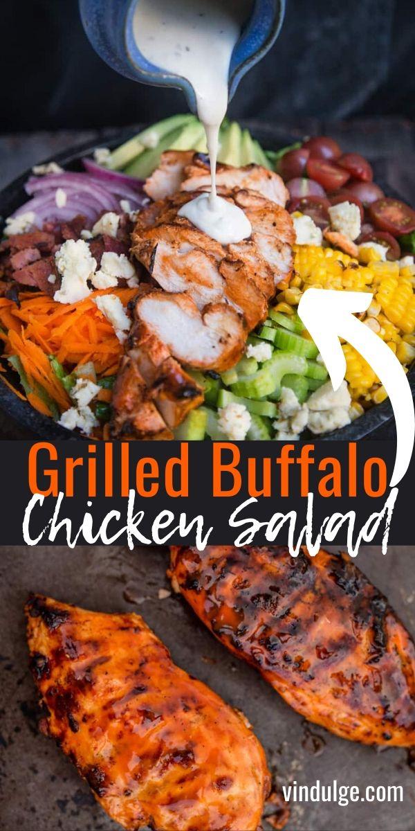 Grilled Buffalo Chicken Salad Recipe - Vindulge