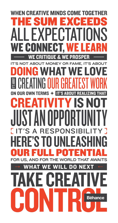 Behance Manifesto   Manifesto   Pinterest   Behance ...