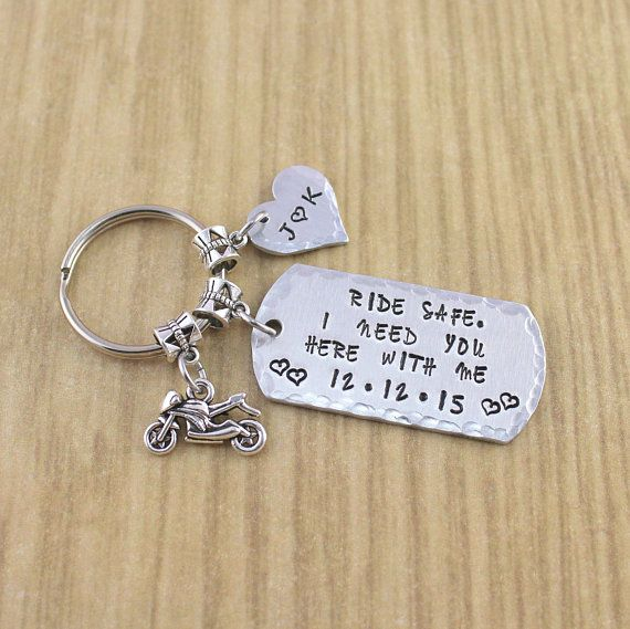 ride safe personalized motorcycle keychain motorcycle gifts for