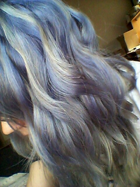 My Own Diy Manic Panic Ultra Violet Mixed With Blue Steel Over