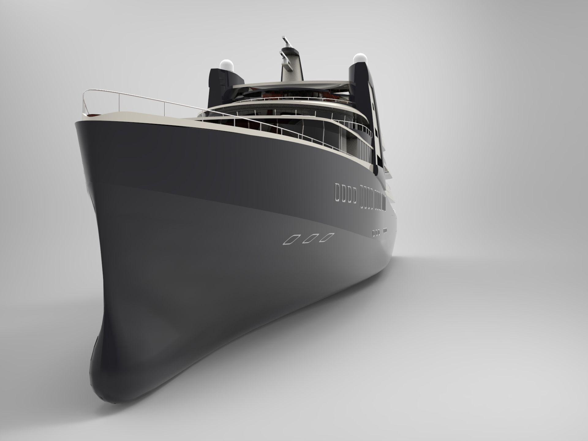 120m EXPLORER naval architecture by Laurent Giles Ltd