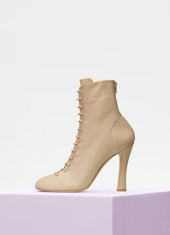 6ea9f1c82ce1 Glove Bootie laced ankle boot in nappa lambskin