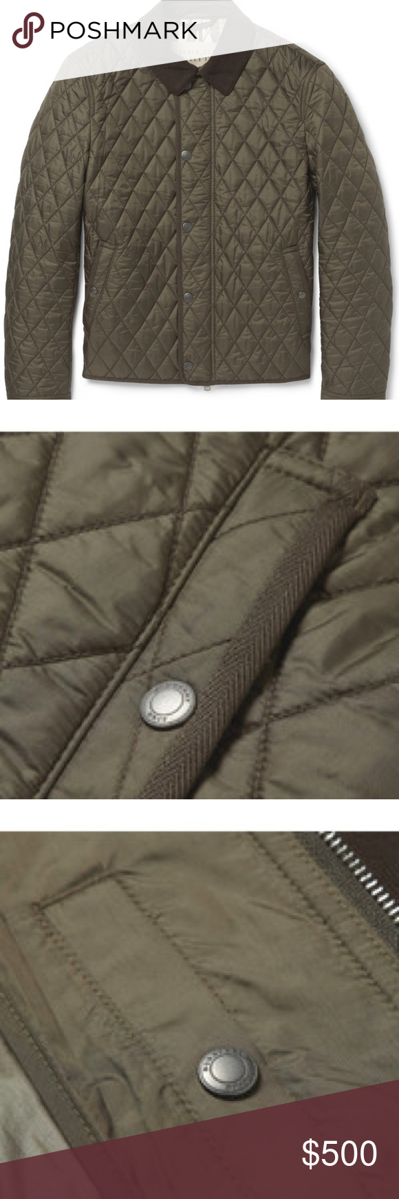 Men S Burberry Brit Corduroy Collar Quilted Jacket Quilted Jacket Burberry Brit Burberry