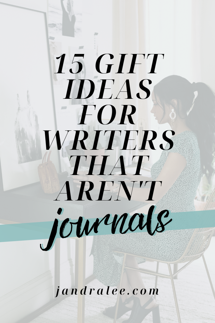 Looking for gift ideas for writers and bloggers that aren't journals or notebooks? Bookmark this for later (or, if you're a writer/blogger, it's definitely okay to