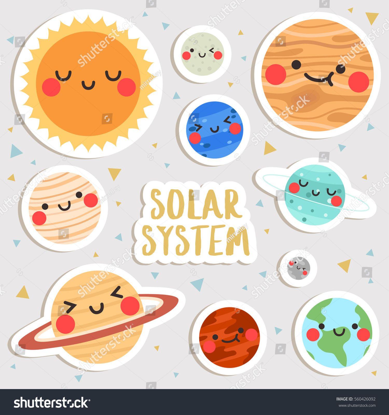 Planet cute. Big set of cartoon