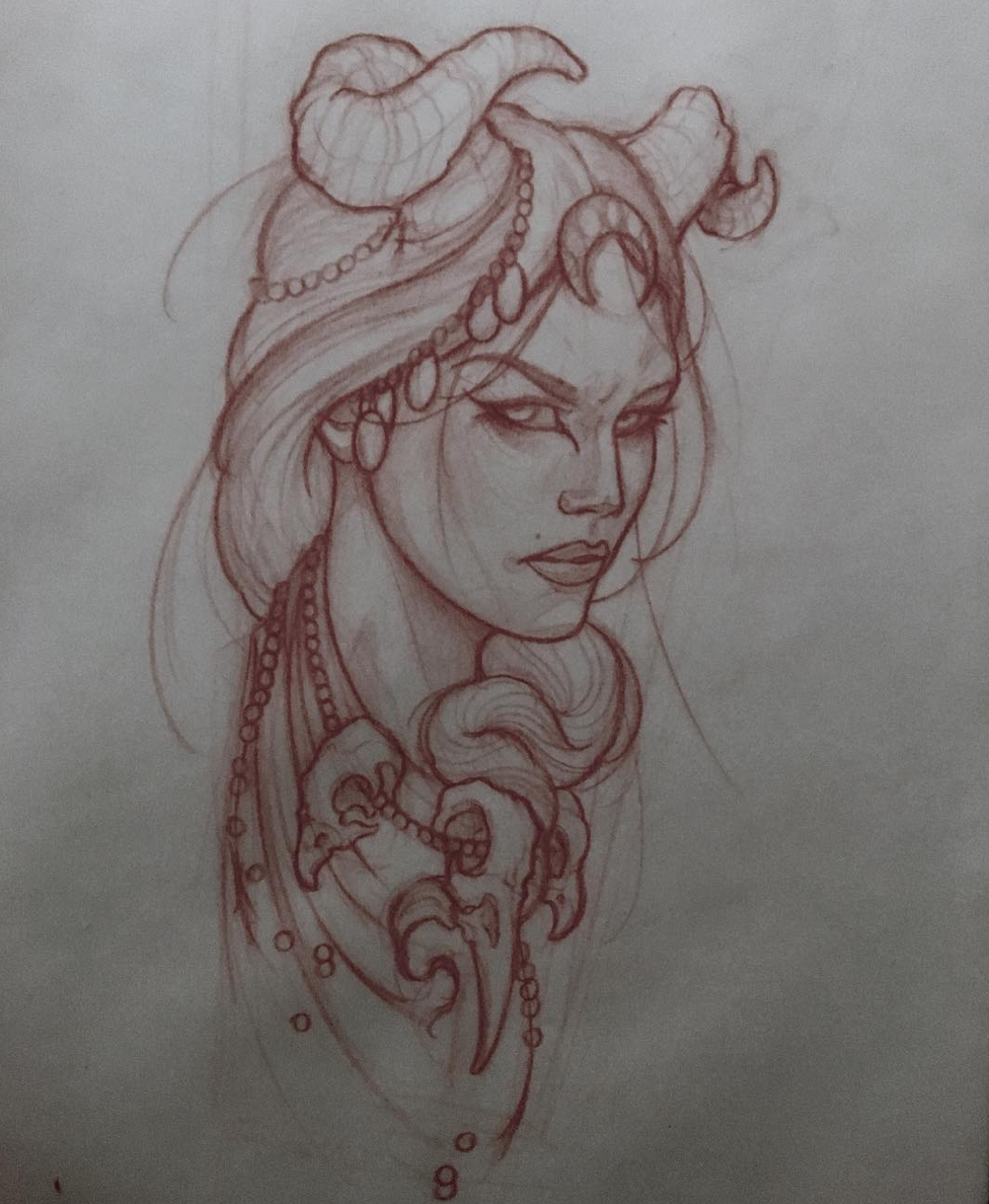 Illustration Woman Woman Girl Neotraditionel Neotraditional Neo Traditionel Draw Drawing Tattoo Ink Tattooed Inked Tattoo Drawings Drawings Sketches