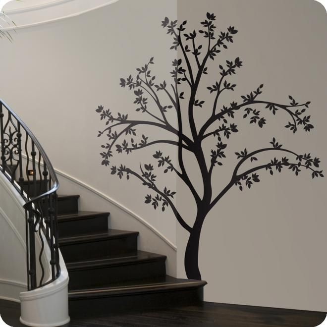 Black Wall Tree Tree Wall Art Tree Silhouette Tree