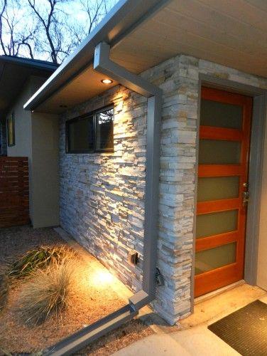 Modern Rain Gutters Nice Rock Wall Home Design