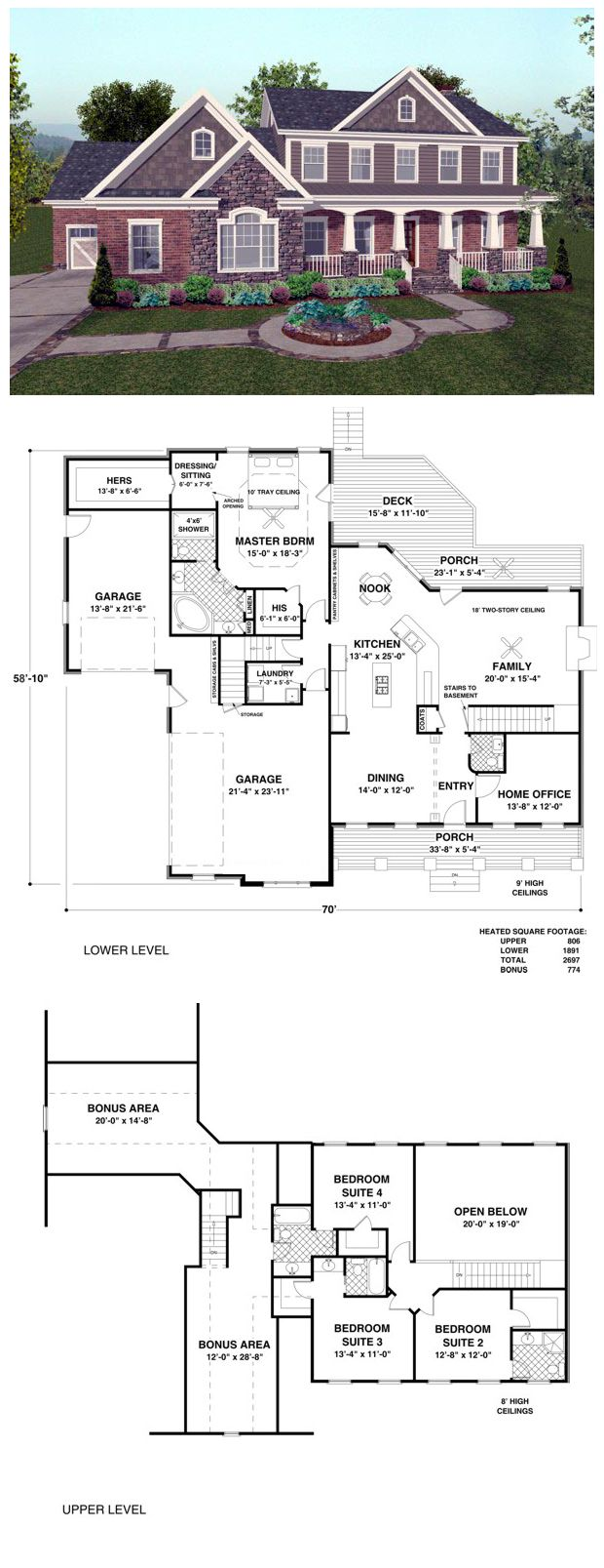 Craftsman Country Home Plan At Cool House Plans Best House Plans House Plans Country House Plan