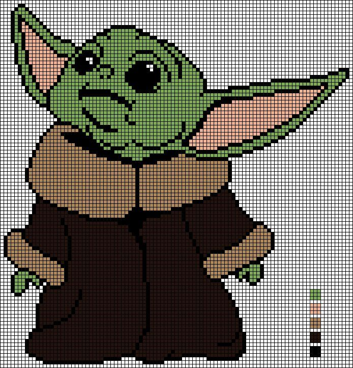 Photo of Cross Stitch Pattern Baby Yoda/the Mandalorian by EmelieOzwin on DeviantArt