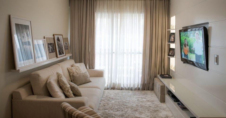 Sala Pequena Com Sofa Bege ~ sofá bege claro  Pesquisa Google  Estar na sala  Pinterest  Ems