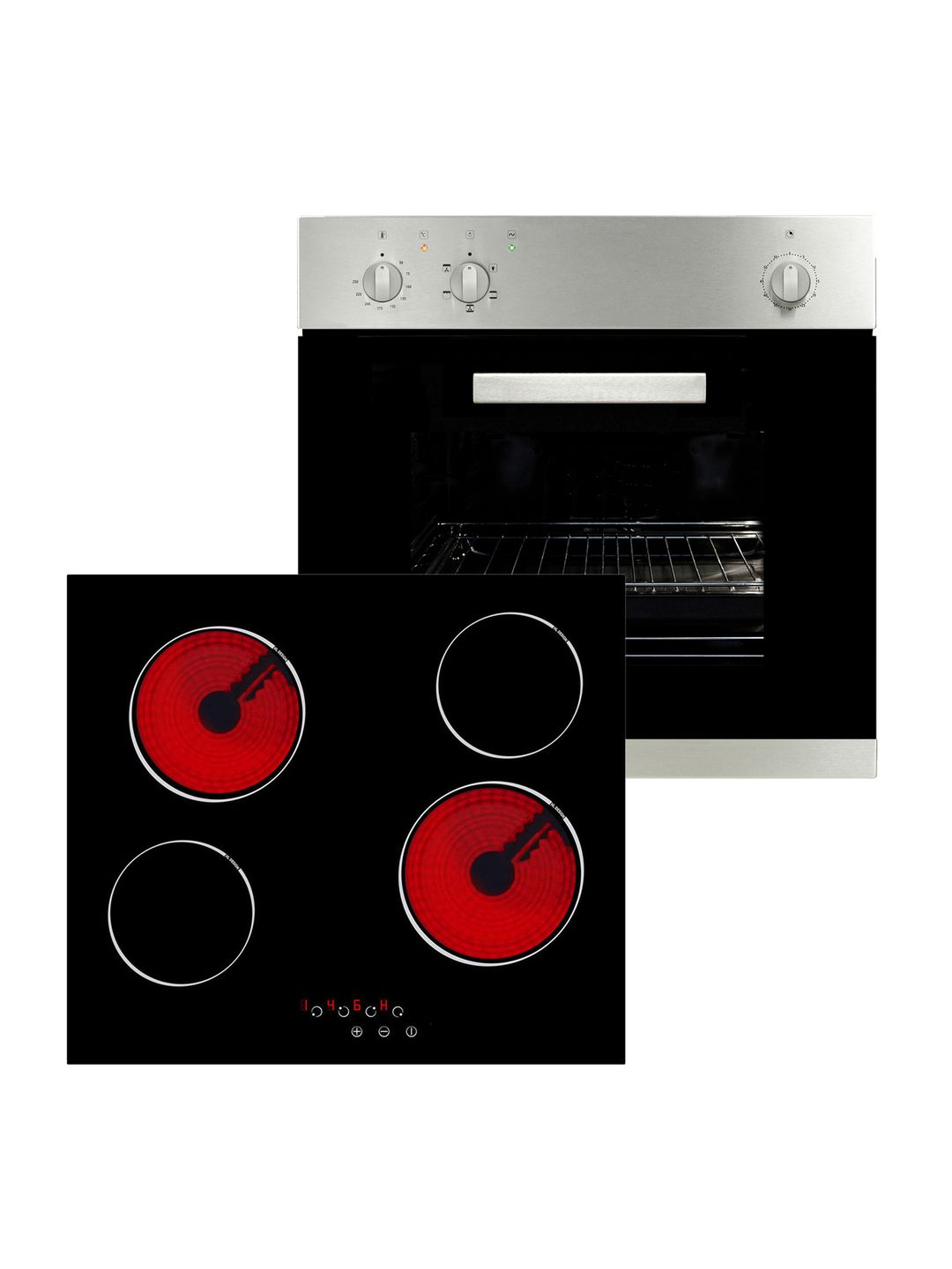 Art50224 Electric Fan Assisted Oven And Ceramic Hob Pack Myappliances Ceramic Hobs Hobs Electric Oven