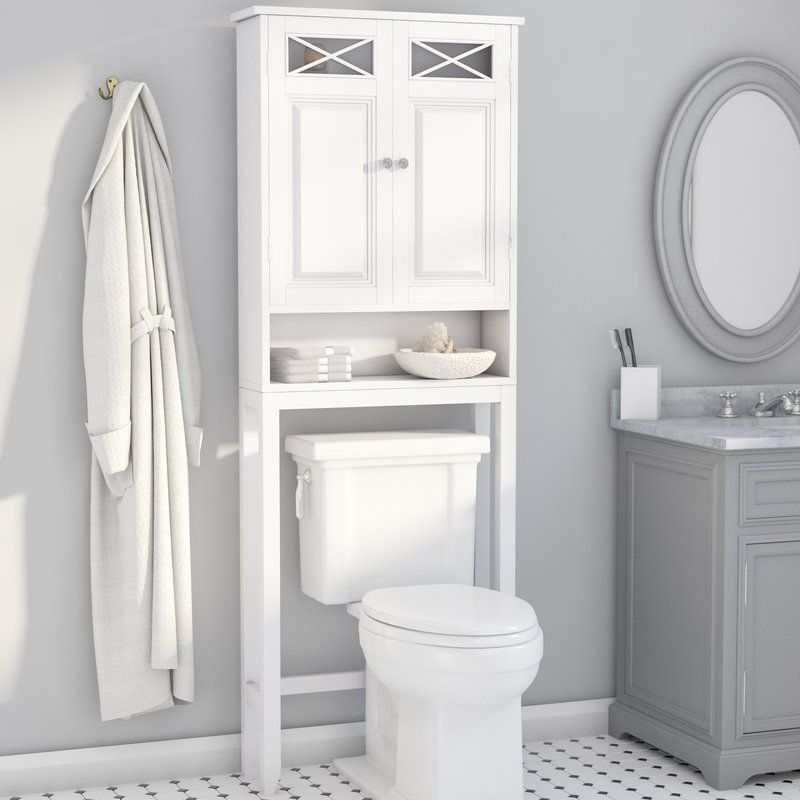 Roberts 25 W X 68 H X 8 D Over The Toilet Storage Over Toilet Storage Over The Toilet Cabinet Toilet Storage
