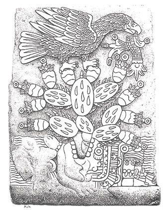 El águila y el nopal en el centro | KMCERO | Ayotzinapa somos todos ...