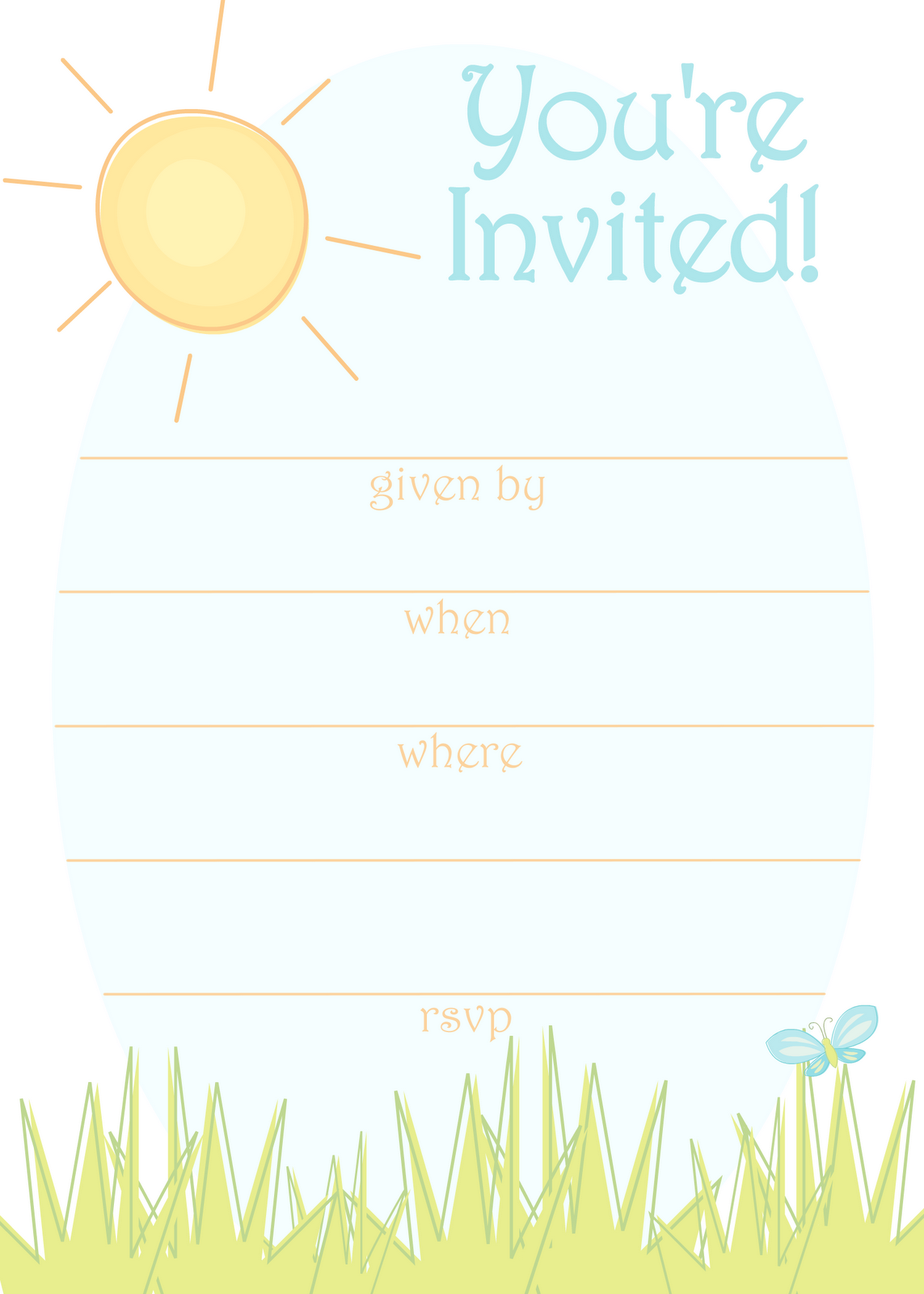 Sunny Day Invitation for a Summer Party | DIY & Craft: Free ...