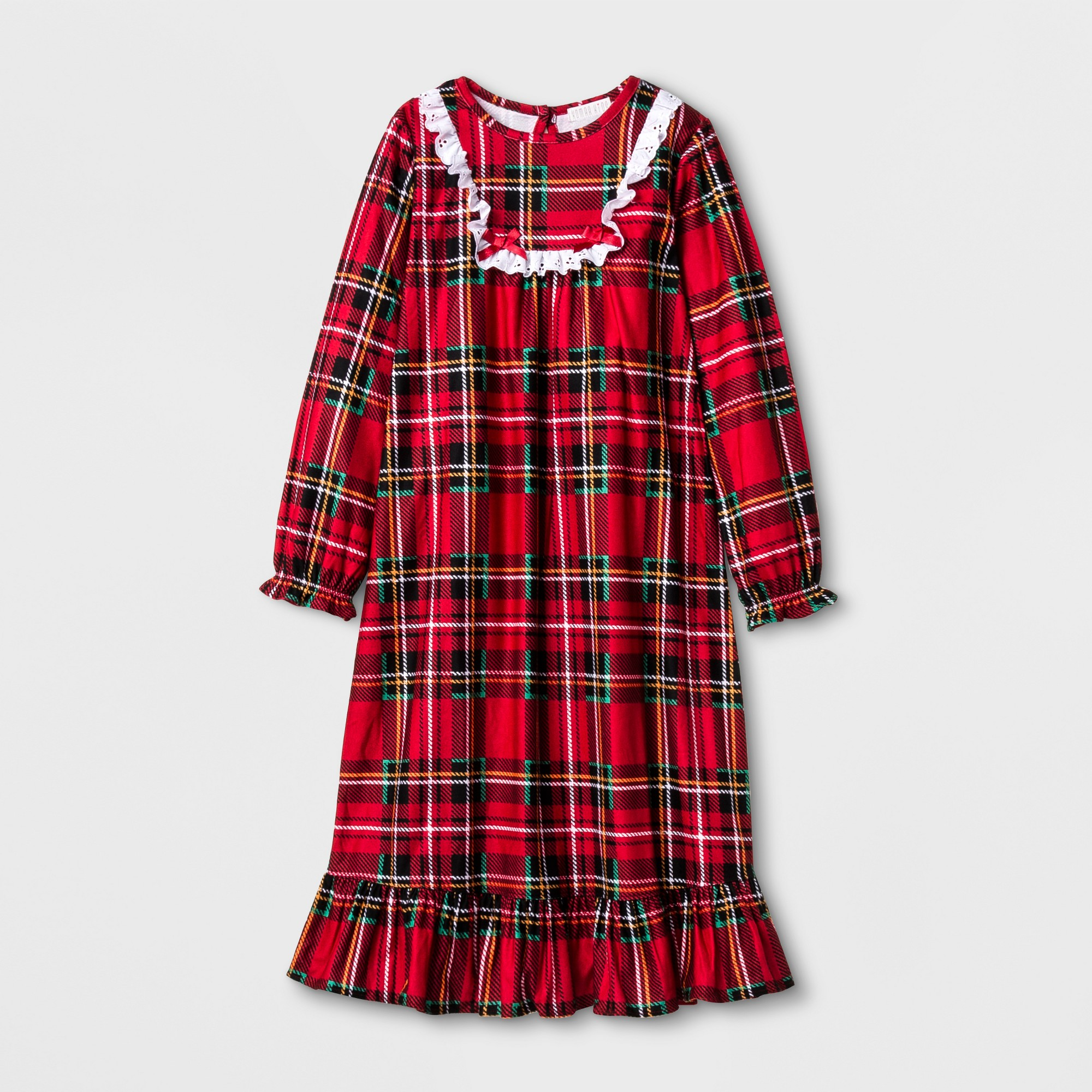 Red flannel nightgown  Komar Kids Toddler Girlsu Granny Nightgown  Red Plaid XL  Red