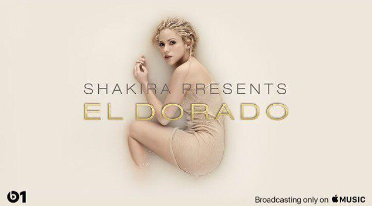 """OMG! O novo álbum da @shakira, """"El Dorado"""" já está disponível em apple.co/beats1! Tá surra de hinos... tem Chantaje; Me Enamoré, La Bicicleta e muito mais... Amo!!!!"""