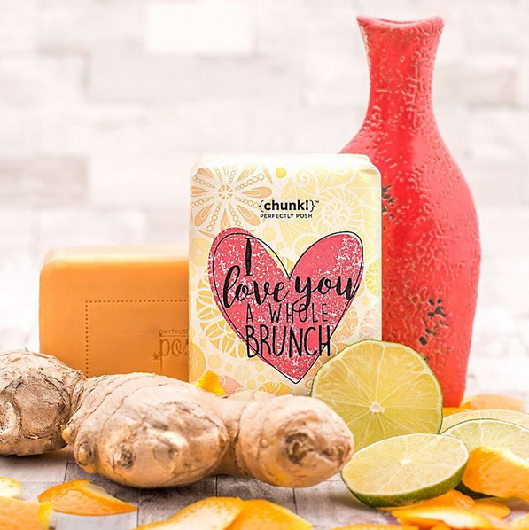 Make it a leisurely morning with sparkling citrus and spicy cardamom. Organic coconut oil, RSPO* certified palm oil, and illipe butter feel lovely and bubbly in your bath or shower. Plus, the citrus and ginger will perk you up just enough to look and feel your best. Make every day feel like the weekend by sudsing up daily with this Chunk! (*Roundtable on Sustainable Palm Oil)  Fragrance: Sparkling citrus and spicy cardamom