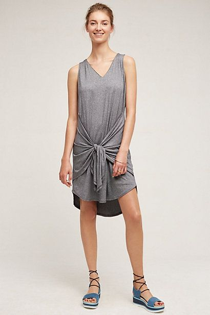 Tie-Front Tank Dress #anthropologie