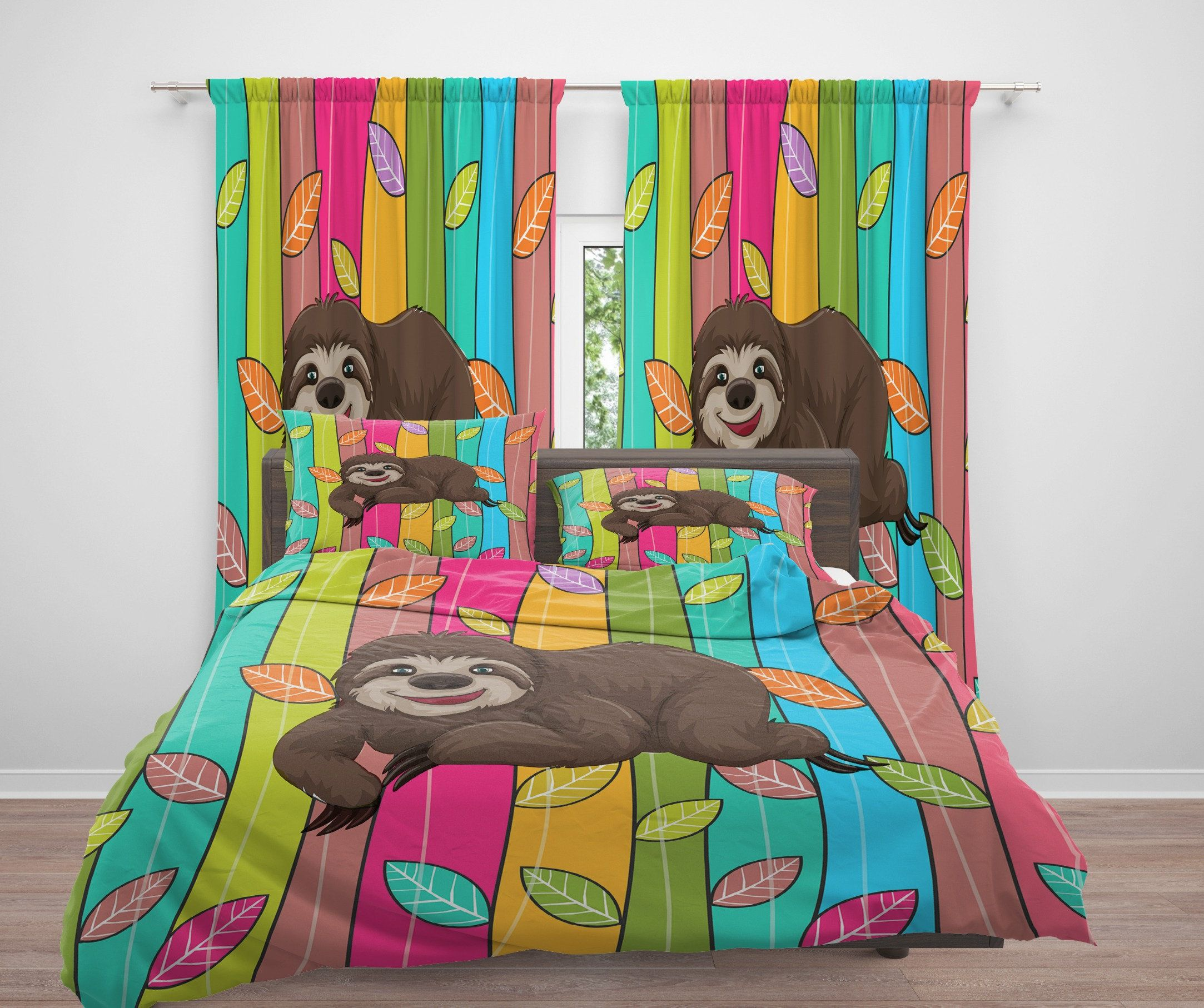 Sloth Bedding Duvet Cover Or Comforter Twin Full Queen King