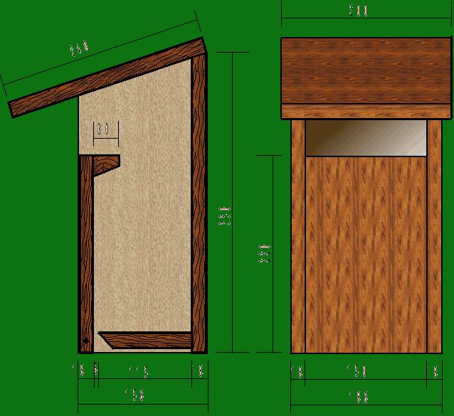 le nichoir semi ouvert convient au rougegorge rougequeue noir gobemouche gris bergeronnette. Black Bedroom Furniture Sets. Home Design Ideas