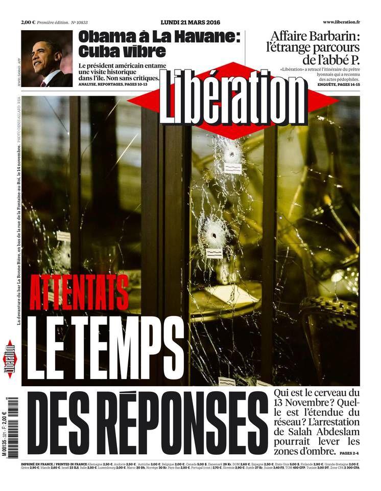 Libération - Lundi 21 Mars 2016 - N° 10833
