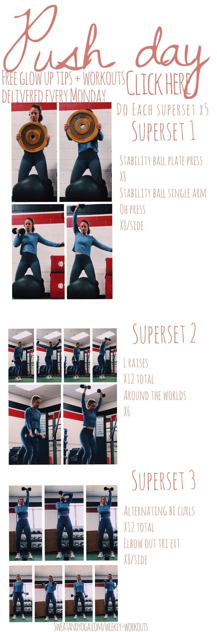 Gym arm workout Work this gym workout into your gym sessions next week! Plus if you're into personal...