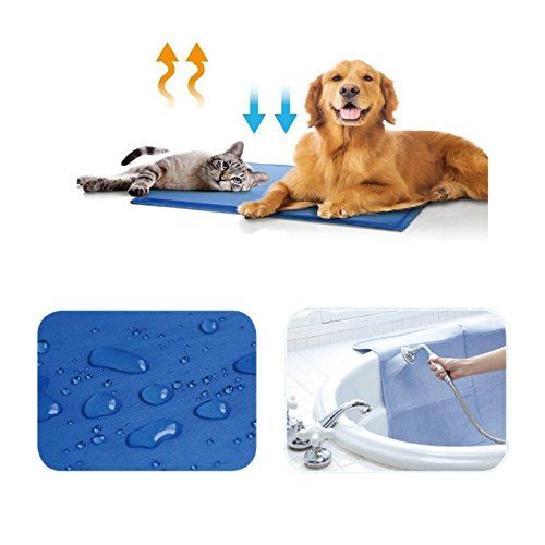 Dog Cat Pet Cooling Pad Gel Cool Beds Kennel Cushion Summer Mat For Home Travel Durable You Can Get More Deta Cool Dog Beds Pet Cooling Mat Pet Cooling Pad