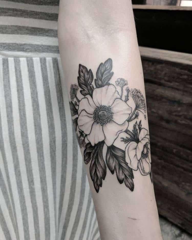 Anemone Tattoo : anemone, tattoo, Pretty, Anemone, Tattoo, Designs, Ideas, TattooAdore, Tattoo,, Vintage, Flower, Tattoos