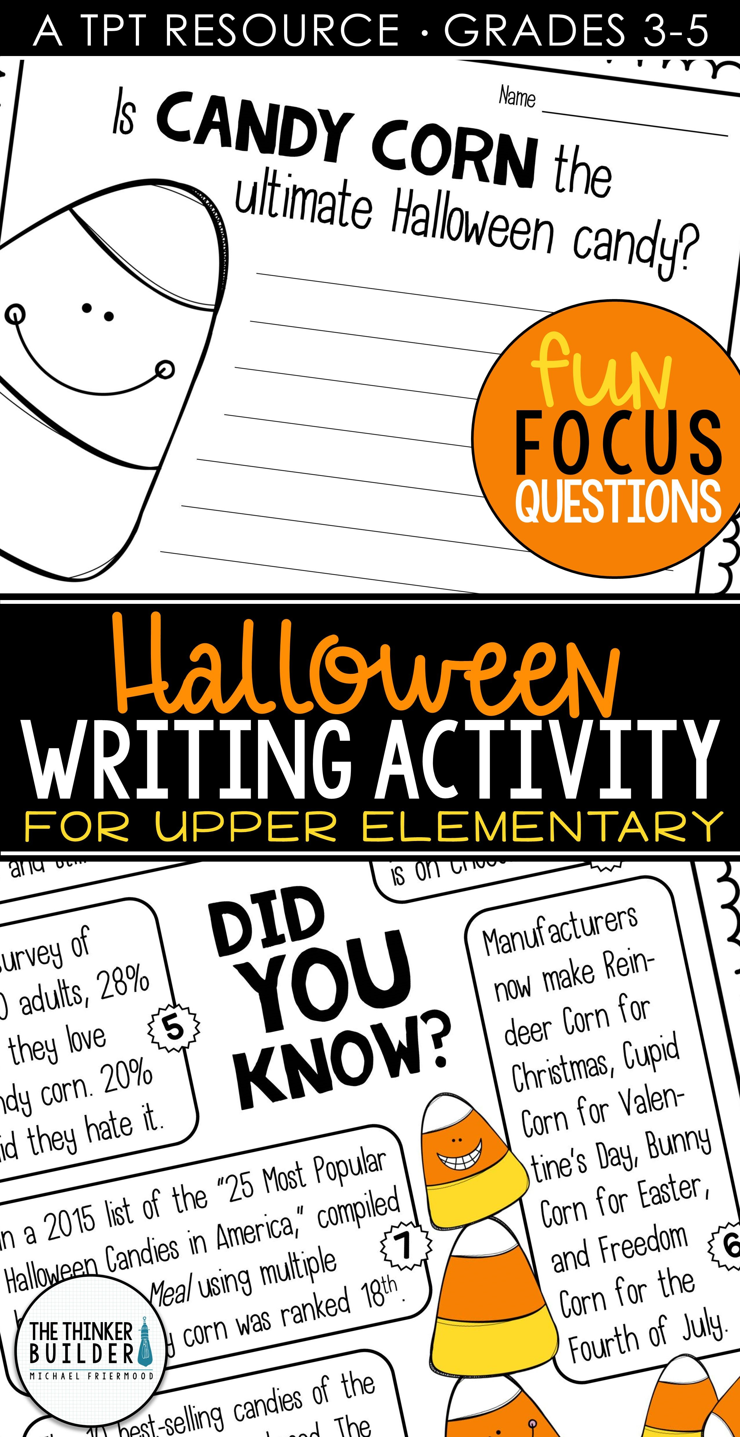 Fact Based Opinion Writing For Halloween Question 1 And 2