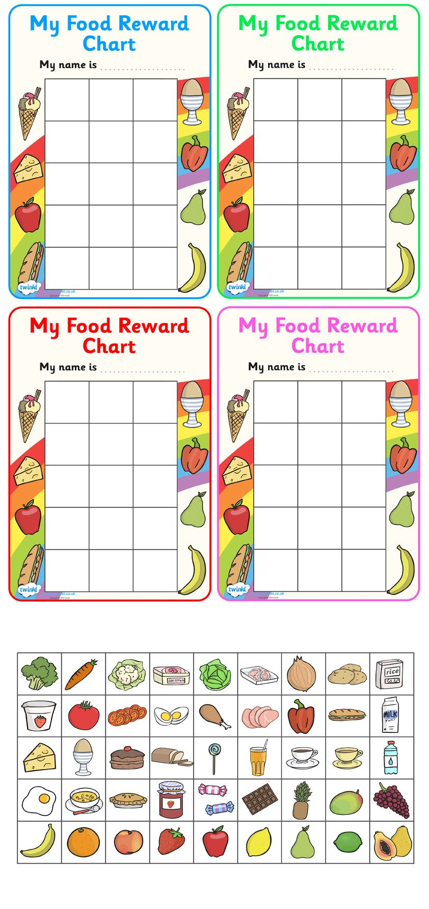 Twinkl Resources >> My Food Reward Chart >> Classroom