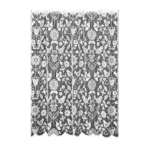 Heritage Lace Rhapsody 60-Inch by 84-Inch Drop Champagne Panel by Heritage. $52.80. 2-1/2-inch rod pocket. Measures 60-inch wide by 84-inch drop. 100-percent polyester. Machine wash cold, gentle; Lay flat or hang to dry. Fine-gauge lace. Heritage Lace Rhapsody 60-Inch wide by 84-Inch drop Champagne Panel. Popular folk art themes from nature are echoed in this collection of window treatments. Machine wash. Made in the U.S.A.. Save 12%!