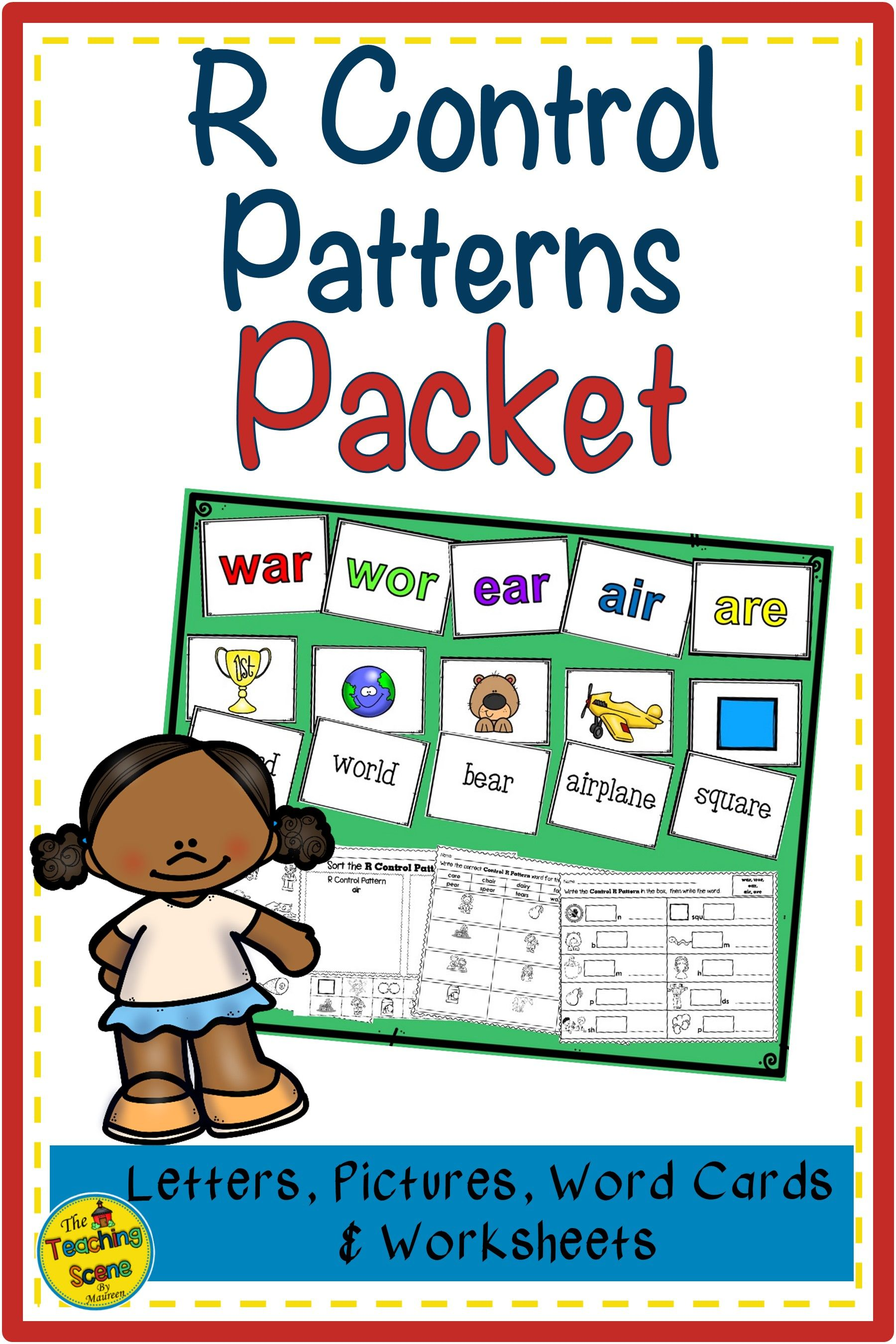 R Control Patterns Packet Letters Pictures Words