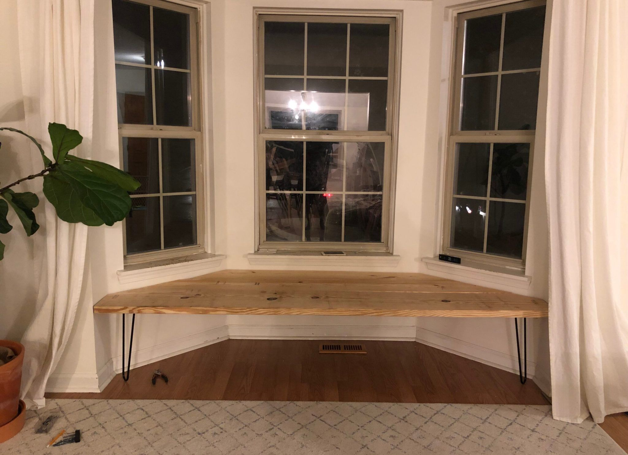 Easy How To – Bay Window Bench with Cushion
