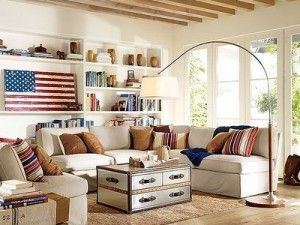 Superb Americana Living Room With A Modern Touch! Light Filled Room Looks  Fantastic.