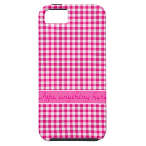 Pink Gingham Check iPhone 5 Case #gingham #case