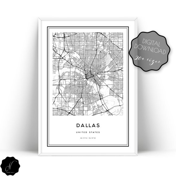 Dallas Map Printable Wall Art, Dallas City Map Wall Art ... on north dallas street map, uptown dallas map, dallas & surrounding ar4ea map, dallas city il, dallas tollway map, dallas city map zoom, downtown dallas street map, dallas city hotels, dallas local street map, dallas street map.pdf, dallas city airport, dallas texas, dallas city town, dallas tx map, dallas museum map, dallas city map downtown, dallas city and suburb map, dallas city district map, dfw map, dallas highway map,