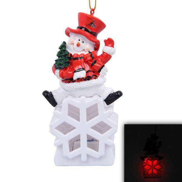 Cleveland Browns Snowman LED Ornament