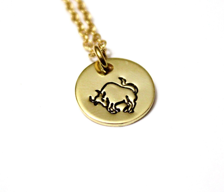 Zodiac Charm Necklace Charm Taurus Gift Zodiac Constellation Charm Sterling Silver Taurus Charm Necklace Pendant