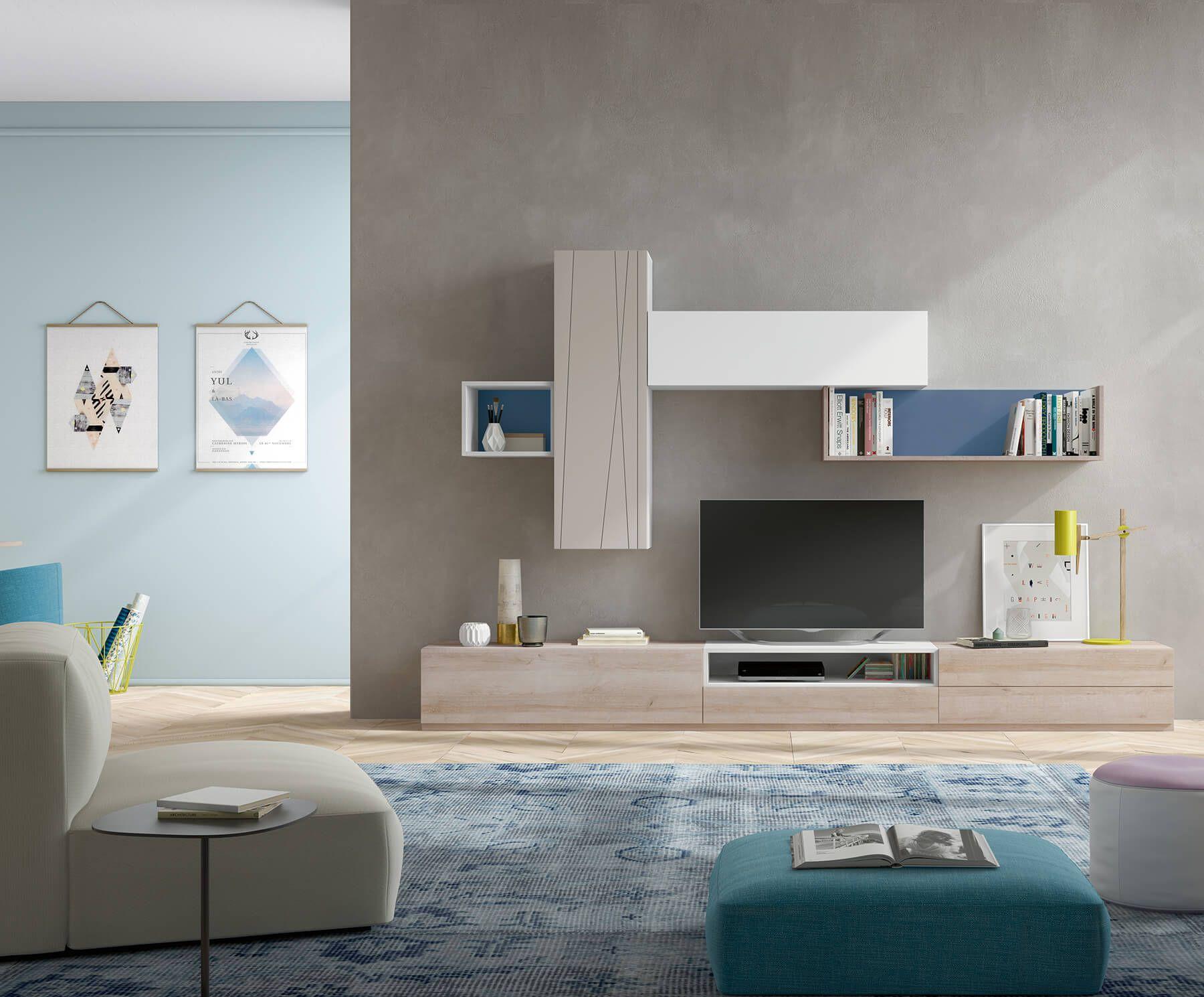 Salones modernos formados por muebles modulares de estilo ...