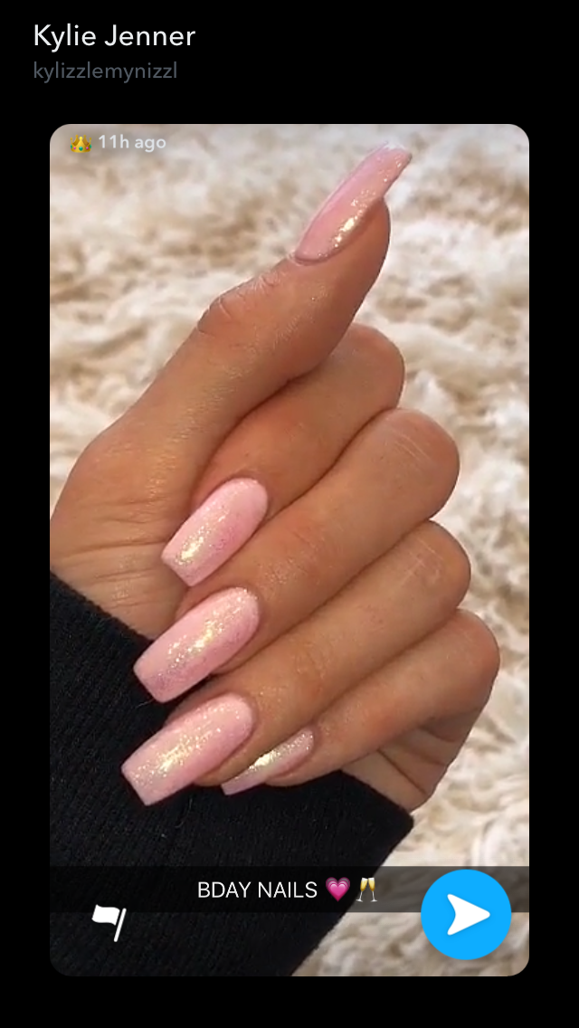 Kylie Jenner 21st Birthday Nails Kylie Nails 21st Birthday Nails Acrylic Nails Kylie Jenner