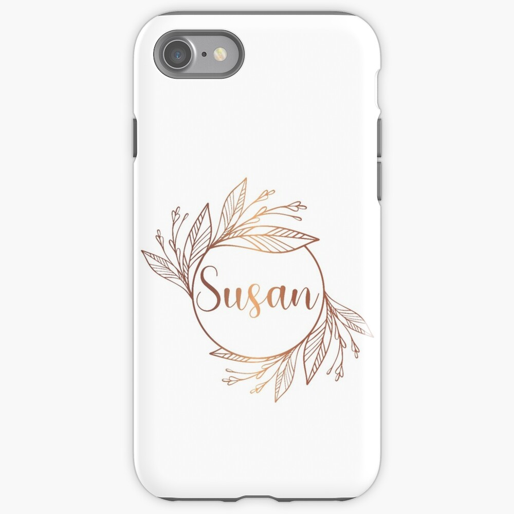 Susan Rose Gold And White Boho Wreath With Leaves Luxury Monogram On A White Background Iphone 11 Soft By Annartlab In 2020 Boho Wreath Cute Backgrounds For Iphone Iphone Case Covers