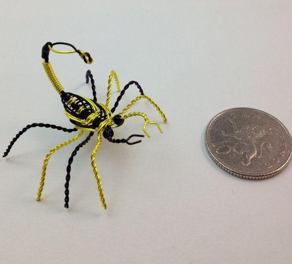 Miniature Decorative Scorpion Wire Sculpture by TwistedEmporium ...